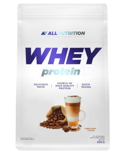 Allnutrition Whey Protein odżywka białkowa o smaku kawy latte 908 g