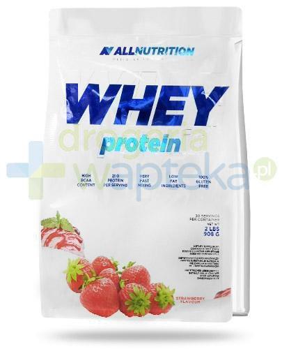 Allnutrition Whey Protein Strawberry odżywka wysokobiałkowa o smaku truskawkowym 908 g [...