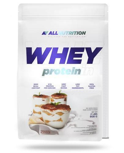 Allnutrition Whey Protein Tiramisu odżywka wysokobiałkowa o smaku tiramisu 908 g [białk...