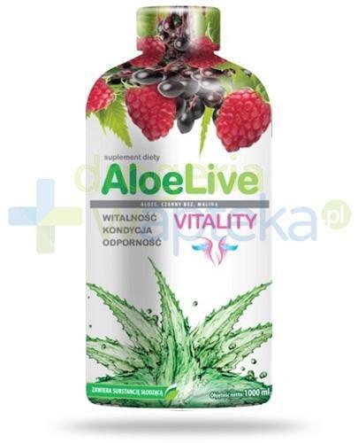 AloeLive Vitality witalność kondycja odporność sok 1000 ml  whited-out
