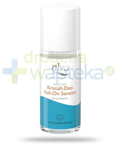 Alva Crystal Deo Sensitive dezodorant w krysztale roll-on 50 ml [WYPRZEDAŻ]  whited-out