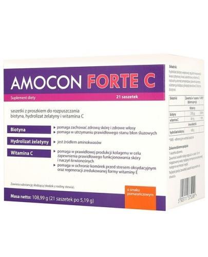 Amocon Forte C proszek o smaku pomarańczowym 21 saszetek  whited-out