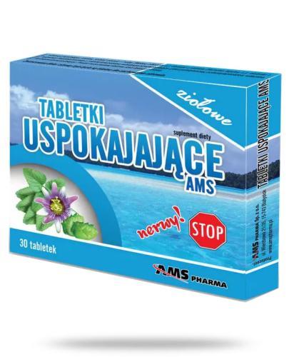 AMS ziołowe tabletki uspokajające 30 sztuk