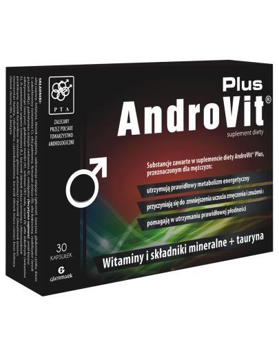 AndroVit Plus witaminy i składniki mineralne + tauryna 30 kapsułek