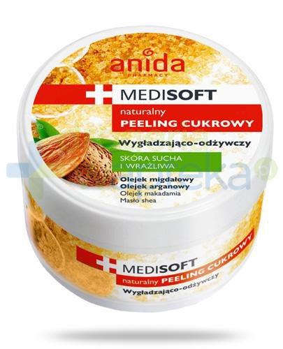 Anida Medi Soft Naturalny peeling cukrowy wygładzająco odżywczy do skóry suchej i szorstkiej 300 ml