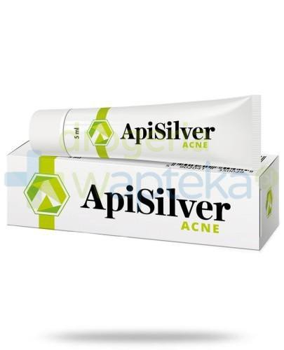 ApiSilver Acne preparat łagodzący zmiany trądzikowe i zapalne 5 ml  whited-out