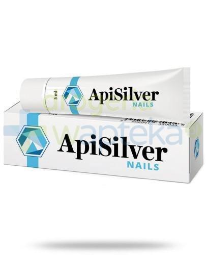 ApiSilver Nails łagodzi zmiany płytki paznokciowej 5 ml  whited-out