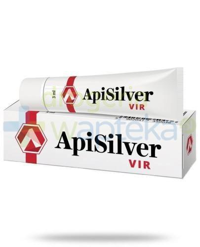APISILVER VIR preparat łagodzący zmiany skórne 3ml  whited-out