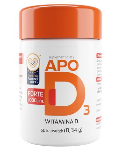 Apo D3 Forte 2000j.m. witamina D3 60 kapsułek
