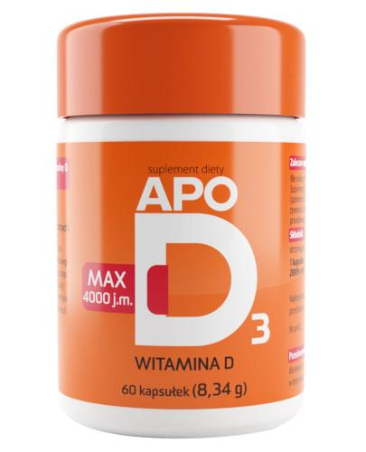 Apo D3 Max 4000j.m. witamina D3 60 kapsułek