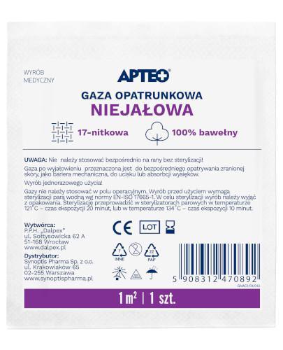 Apteo Care niejałowa gaza opatrunkowa 1 m x 1 m 1 sztuka