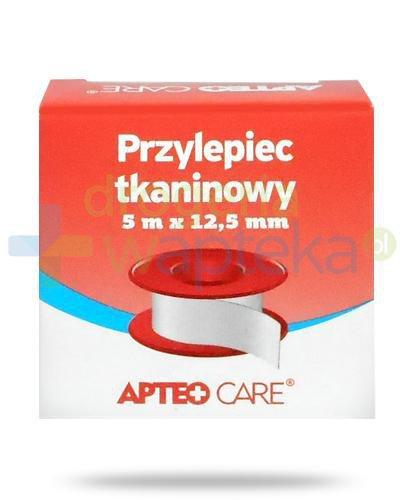 Apteo Care przylepiec tkaninowy 5m x 12,5mm kolor czerwony