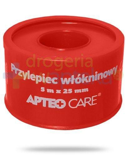 Przylepiec włókninowy 5m x 25mm Apteo Care czerwony