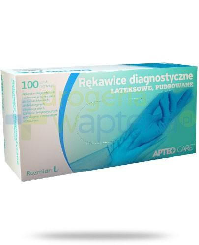 Apteo Care rękawice diagnostyczne lateksowe pudrowane rozmiar L 100 sztuk