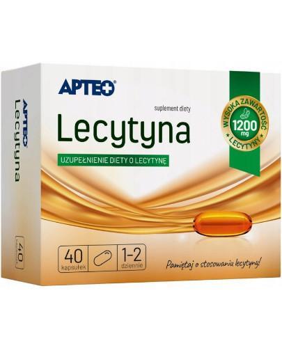 Apteo Lecytyna 1200 mg 40 kapsułek