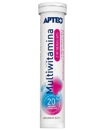 Apteo Multiwitamina z minerałami o smaku pomarańczowym 20 tabletek
