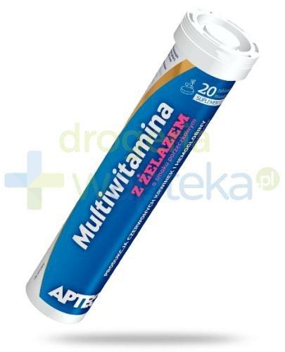 Apteo Multiwitamina z żelazem o smaku porzeczkowym 20 tabletek musujących