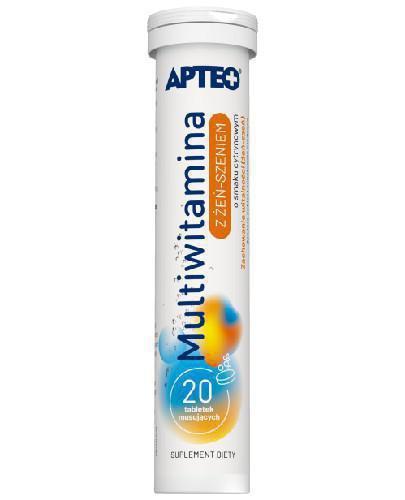 Apteo Multiwitamina z żeń-szeniem o smaku cytrynowym 20 tabletek musujących