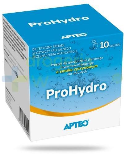 Apteo ProHydro o smaku cytrynowym 10 saszetek