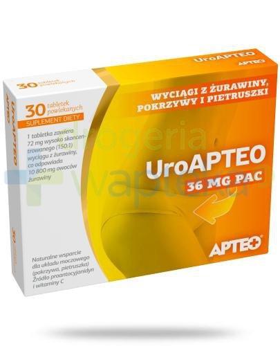 Apteo Uroapteo 30 tabletek  whited-out