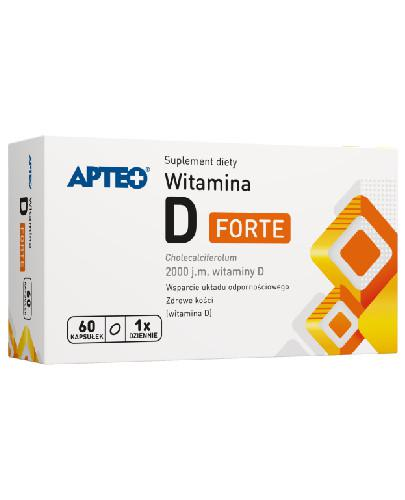 Apteo Witamina D Forte 2000 j.m. 60 kapsułek