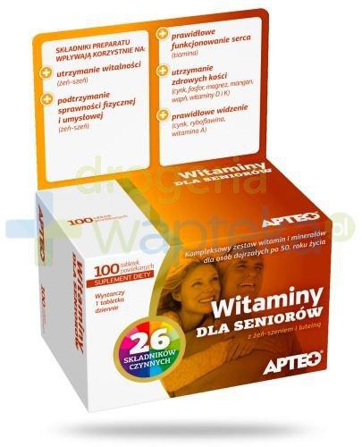 Apteo Witaminy dla seniorów 100 tabletek