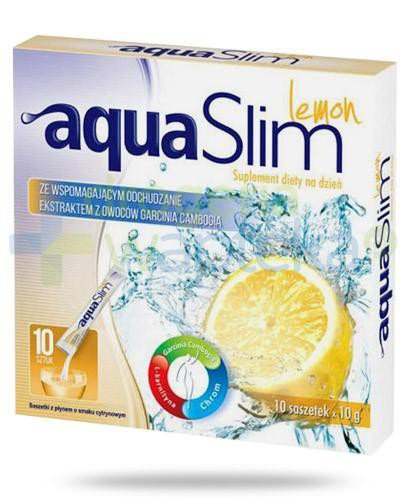Aqua Slim Lemon z ekstraktem z owoców garcinia cambogia 10x 10 g  whited-out