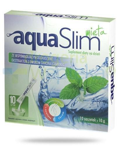 Aqua Slim Mięta z ekstraktem z owoców garcinia cambogia 10x 10 g  whited-out