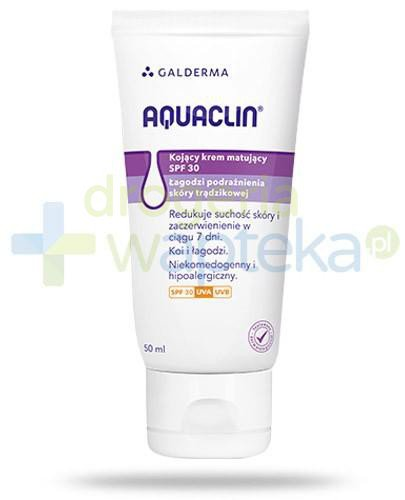 Aquaclin kojący krem matujący SPF30 na podrażnienia skóry trądzikowej 50 ml