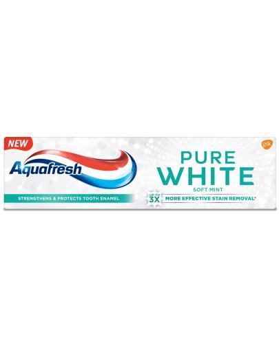 Aquafresh Pure White Soft Mint wybielająca pasta do zębów z fluorkiem 75 ml
