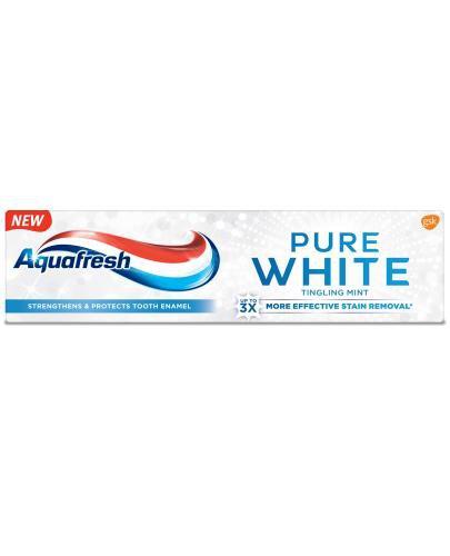 Aquafresh Pure White Tingling Mint wybielająca pasta do zębów z fluorkiem 75 ml