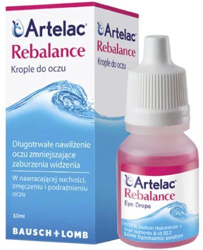 Artelac Rebalance krople do oczu 10ml  whited-out