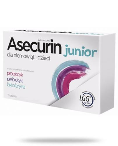 Asecurin Junior probiotyk prebiotyk laktoferyna 10 saszetek