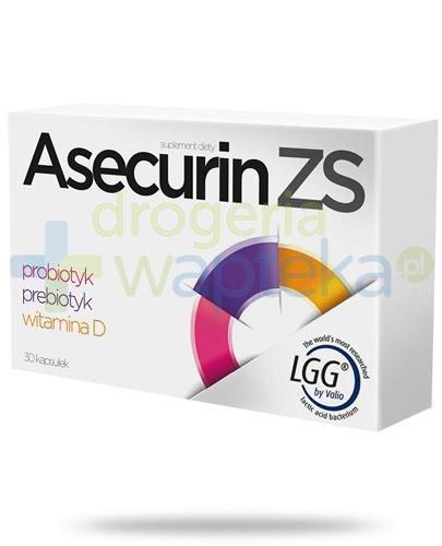 Asecurin ZS probiotyk prebiotyk witamina D 30 kapsułek [Data ważności 30-09-2020]