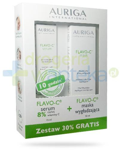 Auriga Flavo-C serum przeciwstarzeniowe do twarzy 15 ml + Auriga Flavo-C maska wygładzająca 50 ml [ZESTAW]