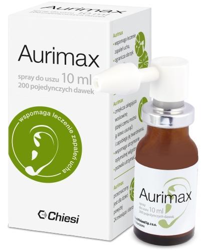 Aurimax spray do uszu 10 ml1