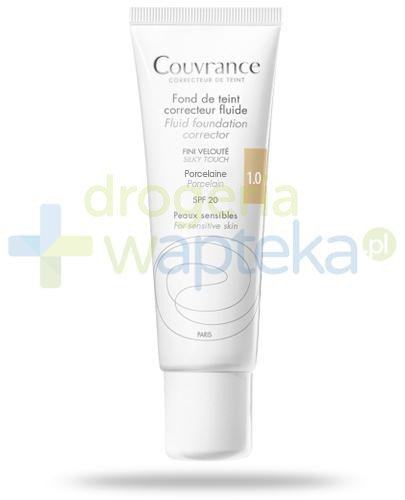 Avene Couvrance fluid korygujący Porcelain 1.0 SPF20 do skóry wrażliwej 30 ml