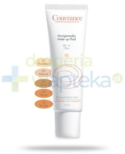 Avene Couvrance Fluid korygujący Porcelanowy (01) 30 ml   whited-out