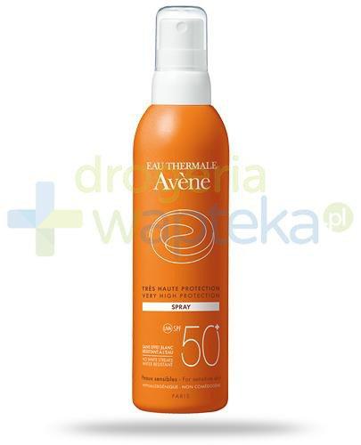 Avene Sun SPF50+ mleczko ochronne w sprayu 200 ml