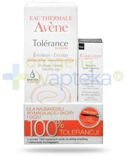 Avene Tolerance Extreme lekka emulsja kojąco-nawilżająca 50 ml + Avene Couvrance tusz d...  whited-out