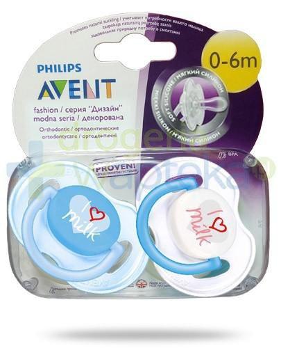 Avent Philips Fashion smoczek gryzak silikonowy ortodontyczny dla dzieci 0-6m 2 sztuki [172/50]
