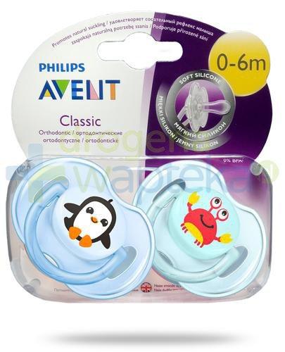 Avent Philips Classic smoczek silikonowy ortodontyczny dla dzieci 0-6m 2 sztuki [169/35]