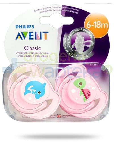 Avent Philips Classic smoczek silikonowy ortodontyczny dla dzieci 6-18m 2 sztuki [169/38]