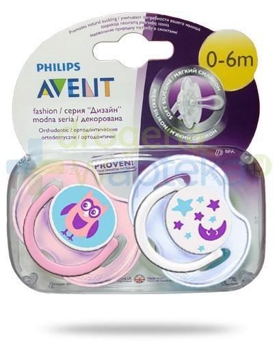 Avent Philips Fashion smoczek gryzak silikonowy ortodontyczny dla dzieci 0-6m 2 sztuki [196/18]
