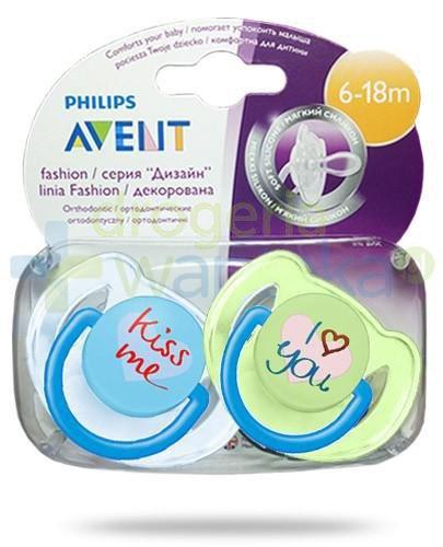 Avent Philips Fashion smoczek gryzak silikonowy ortodontyczny dla dzieci 6-18m 2 sztuki [172/70]