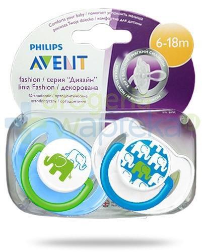 Avent Philips Fashion smoczek gryzak silikonowy ortodontyczny dla dzieci 6-18m 2 sztuki [195/30]
