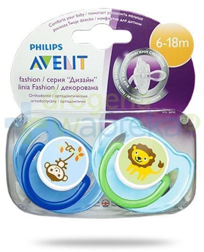Avent Philips Fashion smoczek gryzak silikonowy ortodontyczny dla dzieci 6-18m 2 sztuki [197/22]