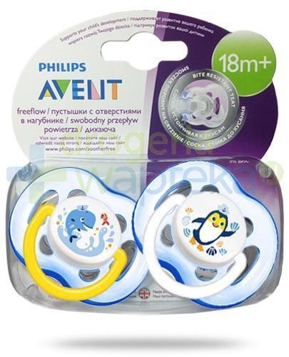 Avent Philips FreeFlow smoczek gryzak silikonowy ortodontyczny odporny na gryzienie dla dzieci 18m+ 2 sztuki [186/24]
