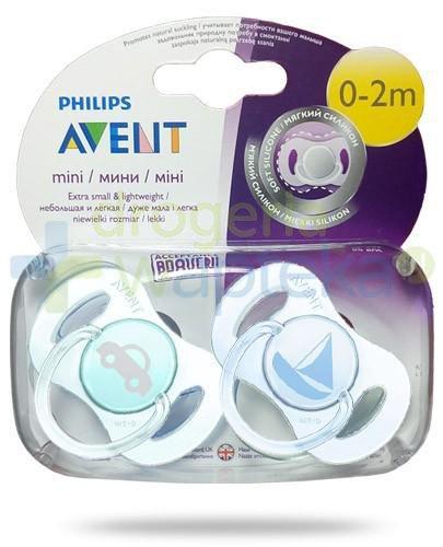 Avent Philips Mini smoczek gryzak silikonowy dla dzieci 0-2m 2 sztuki [151/01]