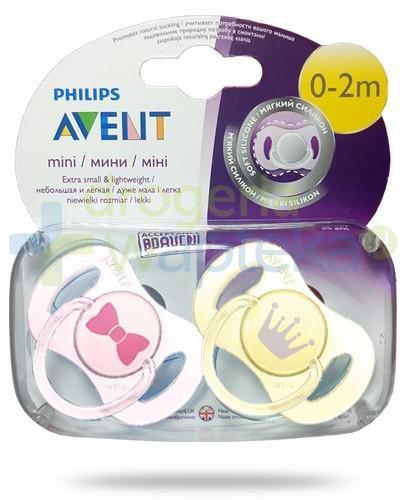 Avent Philips Mini smoczek gryzak silikonowy dla dzieci 0-2m 2 sztuki [151/02]